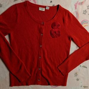 Valentine's Girls Cato shirt 16 youth XL fancy red